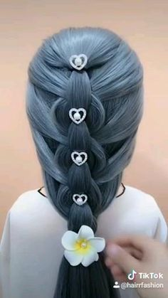 Hairdo For Long Hair, Easy Hairstyles For Long Hair, Up Hairstyles, Braided Hairstyles, Hair Up Styles, Medium Hair Styles, Hair Medium, Hair Videos, Hair Designs