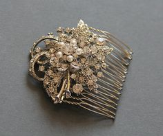 Pearl and Rhinestone Bridal Hair Comb Wedding by LavenderByJurgita. $65.00, via Etsy.