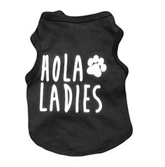 Ollypet Cool Dog Shirt Black Clothes For Small Pets Cats Boy Clothing Hola Ladies Summer Top S *** Check out this great image @
