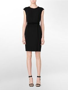 2 pocket belted sheath dress - hope this isn't too short for work...