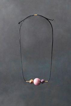 Geometric Necklace / Modern Jewelry / Pink Gold by BlueBirdLab (Diy Necklace Geometric) High Jewelry, Modern Jewelry, Gold Jewelry, Unique Jewelry, Jewelery, Handmade Jewelry, Jewelry Design, Lila Gold, Purple Gold