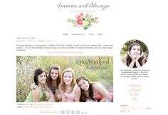 Responsive Blogger Template - Vintage Chic Design - Instant Download - Need a new blog design?