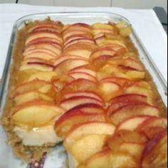 Apple Custard Tart recipe – All recipes Australia NZ Apple Pie Recipes, Low Carb Recipes, Sweet Recipes, Vegan Recipes, Cooking Recipes, Apple Pies, Apple Custard, Custard Tart, Delicious Desserts