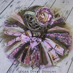 Camo Girl Real Tree Pink green camo tutu set by SugarDivasDesigns