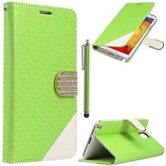 Note 3 Case,Galaxy Note 3 Case - ULAK Maze Pattern PU Leather Wallet Case for Samsung Galaxy Note 3 Note III N9000 w/Screen Protector and Stylus (Green) ULAK http://www.amazon.com/dp/B00O0KSVPM/ref=cm_sw_r_pi_dp_MwGkub1WH4ZRC