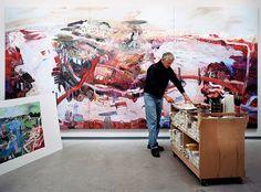 John Hartman in his studio with Halifax