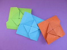 Materials: 1 square piece of paper Use paper colored on one side if you want the center design to be a different color