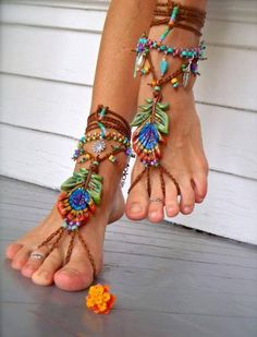 Barefoot sandals!! Love em<3, definitely cute for a hippy costume :)