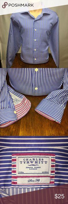 Charles Tyrwhitt shirt, Slim fit, 17/35in Charles Tyrwhitt shirt, Slim fit, 17/35in Charles Tyrwhitt Shirts Dress Shirts