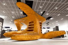 Modern Retail Design: Frankfurt Regionals Wood Installation by Graft