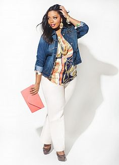 bd798f945f9 Clothes from Ashley Stewart Jean Jacket Outfits