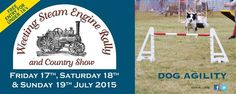 There's Dog Agility all weekend at Weeting Steam Engine Rally & Country Show #Dogs #Agility #CountryShow #Suffolk