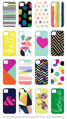 Cute phone cases -many of which you could DIY