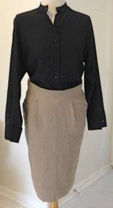 Genny black vintage blouse  Ports skirt.  www.thethrifters.net  www.dtroppy.blogspot.com
