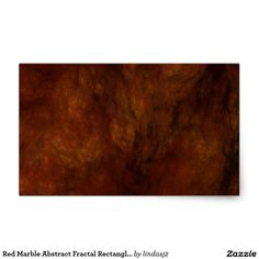 Red Marble Abstract Fractal Rectangle Sticker