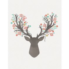 Hawthorne Threads - Fawn - Stag Quilt Panel in Tulip
