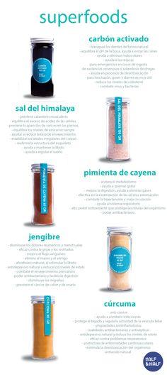 curcuma - turmeric pimienta cayena - cayenne pepper sal del himalaya -himalayan salt carbón activado - activated charcoal jengibre - ginger
