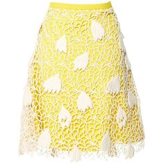 Pre-owned Chloé Mini Skirt ($270) ❤ liked on Polyvore featuring skirts, mini skirts, women clothing skirts, yellow, high waisted short skirts, zip skirt, short mini skirts, high waisted skirts and high rise skirts