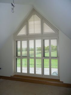 window dressing on half apex window – Curtains 2020 Dormer Windows, Arched Windows, Blinds For Windows, Windows And Doors, Arched Window Coverings, Large Window Treatments, Indoor Shutters, Wood Shutters, Bedroom Windows