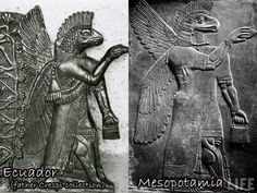 Fascinating - and perplexing - similarities in carvings from ancient Mesopotamia and Equador