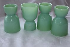 Anchor Hocking Fire King Jadite Egg Cups