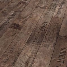 recycled wine box flooring; could make a really cool head board...hmmm