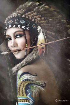 Imagini pentru native woman type tattoo