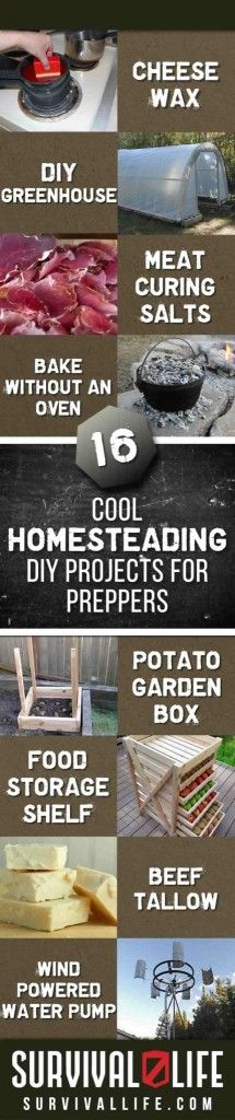 16 Cool Homesteading DIY Projects For Preppers via @survivallife