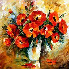 Imagini pentru leonid afremov flowers