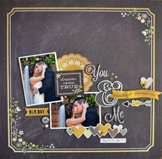 #papercraft #scrapbook #layout.  You and Me *Simple Stories* - Scrapbook.com - Made with Simple Stories supplies.