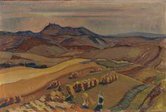 Martin Benka - Žne, 1952 Painters, Farming, Illustrators, Harvest, Graphic Art, Illustration Art, Tapestry, Summer, Tela