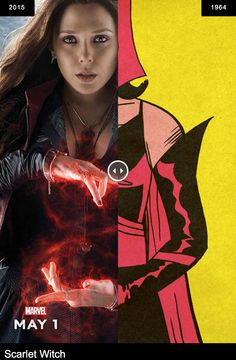 Avengers: Age of Ultron - Scarlet Witch (first appeared in The X-Men #4, 1964).