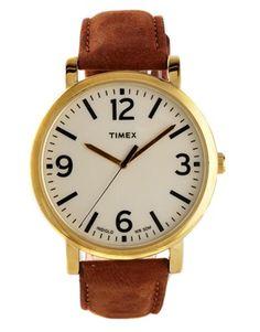 Vergrößern Timex – Originals – Armbanduhr mit Lederband und Golddetail, T2P527