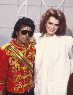 "Brooke Shields and Michael Jackson at the Grammys- ""Now Broke Shields, she was one of the loves of my life. We dated a lot. Her pictures were all over my walls and mirrors.""- Michael Jackson"