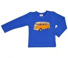 Longsleeve jongen molton VW Bus Geel