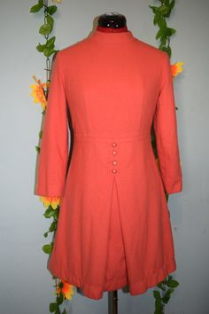 very cute vintage 60s baby pink wool mod dress by jampops on Etsy