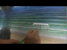 ▶ Acrylic Painting Techniques - How To Paint Waves Part 2 - Reflections In Whitewash - YouTube
