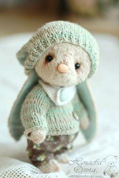 Teddy toy Bunny / Мишки Тедди ручной работы. Ярмарка Мастеров - ручная работа. Купить Амели 16 см.. Handmade. Бежевый, зайка игрушка