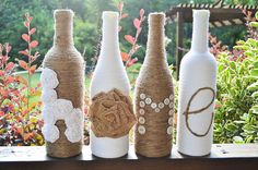 Twine Wrapped Wine Bottles / Upcycled / by ArtisticallyAshley