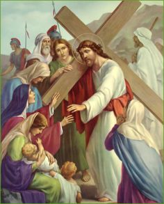EIGHTH STATION  Jesus Speaks to the Holy Women of Jerusalem