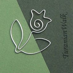 Tulip - wire bookmark
