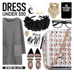 """Shop Under $50"" by pastelneon ❤ liked on Polyvore featuring Zara, Casetify, Bershka, Topshop, Jewel Exclusive, Kate Spade and Minnie Grace"