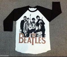 The Beatles t shirt Baseball style 3/4 sleeve Raglan Tee on Etsy, $17.23