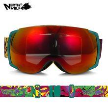 US $27.99 Unisex UV400 Anti-Fog Double-Lens Professional Ski Goggles Skiing Eyewear Ski Glasses Skiing Snowboarding Goggles CS0013. Aliexpress product