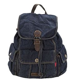 SAIERLONG Women's And Girl's Backpack School Bag Travel Bag black jean  - Click image twice for more info - See a larger selection of Girls teen  backpacks at http://kidsbackpackstore.com/product-category/girls-teen-backpacks/- kids, juniors, back to school, kids fashion ideas, teens fashion ideas,  school supplies, backpack, bag , teenagers,  boys, gift ideas