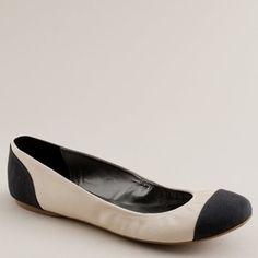 J. Crew Leather & Canvas Ballet Flat