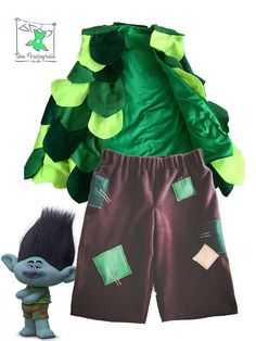 Hi and welcome to the Fairyrail!!  This outfit is so cute!!!  The Branch Shorts are made from brown fleece and have felt patched design to the back and front. these have an elasticated waistband.  The Branch waistcoat/vest is made from bottle green fleece and is lined in emerald green polycotton. It is covered in felt leaves in 3 shades of green. Team up with blue leggings, a blue long sleeved tee and you are good to go!!   Payment PayPal, credit card and debit cards. Orders can be cance...