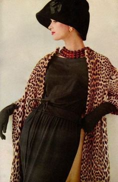 For our leopard print gallery, Vogue 1961