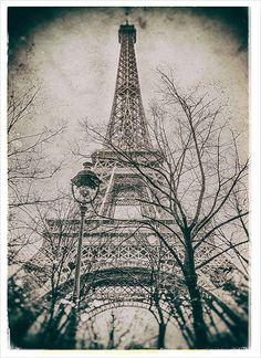 Old Eiffel Tower photographyParis printParis by HQPhotos on Etsy