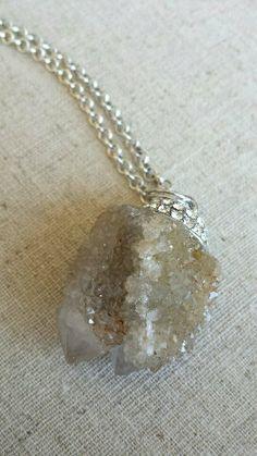 Spirit Quartz Crystal Pendant by AfricanBellaGems on Etsy, $89.00